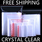 Crystal Clear Zip Lock Bags 1Mil Plastic Top Seal Reclosable Storage Poly Zipper
