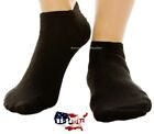 Black Lot 3-12 Pairs Mens Cotton Athletic Ankle Sports Work Crew Socks Size 9-13