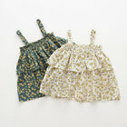 Toddler Baby Kids Girls Sleeveless Floral Ruffles Strap Dress Casual Clothes