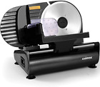 """Meat Slicer, CUSIMAX Electric Food Slicer with 7.5"""" Removable Stainless Steel B"""