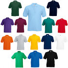 FRUIT OF THE LOOM POLO T SHIRT 14 COLOURS ALL SIZES BN