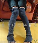 Womens Knit Design Leg Warmer Socks 1 Pair Black Gray