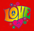 Neon Love T-Shirt 60's retro hippie peace flower world