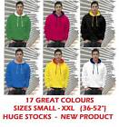 NEW CONTRAST HOODED TOP HOODIE 17 GREAT COLOURS S-XXL