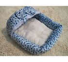 Pincess Sweet Pet Dog Cat Bed House Kennel Pink/Blue S