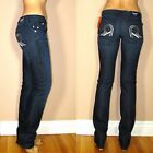$278 Rock&Republic Stella Straight Leg Dark Jeans Themis Nailhead Studded Rs 29