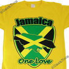 JAMAICA REGGAE RASTA FLAG LOVE NEW YELLOW BLACK T-SHIRT