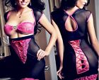 Sexy Lingerie Babydoll Chemise evening Gowns Open Bust String Metal Charm Detail