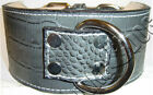 "3"" Wide Gator(Embossed Cow) Dog Collar with D-Ring"