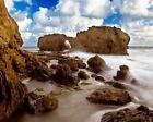 Beach And Rock Art Poster Print New