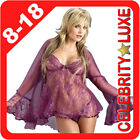 Pink Lingerie Babydoll Baby Doll Lace Coat Gown Dress