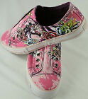 Womens ED Hardy Tiedye Lowrise Panther Pink roses Shoes