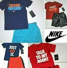 NIKE Boys 2pc Athletic Outfit set tee shorts
