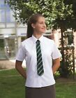 "GIRLS SCHOOL BLOUSES- 40"" - 42"" WHITE-SHORT SLEEVED-X 2"