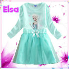 Elsa Anna Princess School Birthday Party Outfit Girls Dresses AGE 2-3-4-5-6-7-8Y