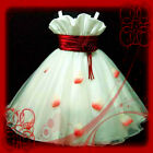 Hot Red Halloween X'mas Party Girls Dress SZ 2-4-6-8-10