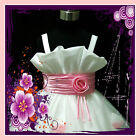 PInk White Party Flowers Girls Dress 2-3-4-5-6-7-8-9-10