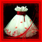 X'mas Party Red Girls Flowers Dress SZ 2-3-4-5-6-7-8-10