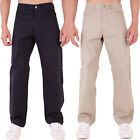MENS CHINOS TROUSERS CLASSIC REGULAR FIT CHINO JEANS BLUE & CREAM REDUCED!!!