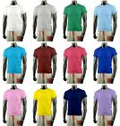 New Mens Stylish Basic T-Shirt 12 Colours. (Sz) XS / S / M / L / XL.[Free Ship]