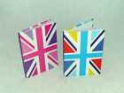 *** Pink Or Blue Union Jack Lined Notebook - 19 x 26cm 50 Pages Double Lined ***