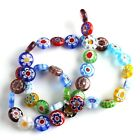 Strand Colorful Flower Lampwork Millefiori Glass Spacer Loose Beads FREE SHIP