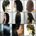 "8"" - 20"" #1b Off Black India Remy Human Hair Full Lace Wig / Front Lace wigs 1b#"