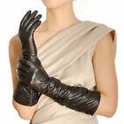 New WARMEN Women's Long GENUINE LAMBSKIN leather Winter gloves Christmas gift
