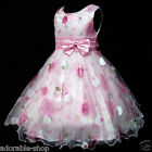 P3211 Pink Christmas Party Bridesmaid Flower Girls Pageant Dress SZ 3-4-5-6-7-8Y