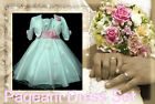 P05 Pinks Baptism Pageant Flower Girls Dress + Cardigan Set SIZE 2-3-4-5-6-7-8-9