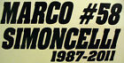 Marco Simoncelli  # 58 Tribute Decal sticker for car or bike