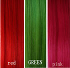CLIP IN REMY HUMAN HAIR EXTENSIONS *10pc Full Head Set! 20''long RED GREEN PINK