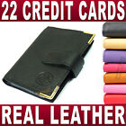 Soft Leather Credit card holder 22 cards removable sleeves wallet Ladies Gent's