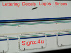 BROWN STRIPE x 5m DECAL car van lorry boat taxi motorhome caravan pickups