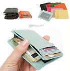 Genuine Leather black slim wallet useful slim card wallets Brown mini purse