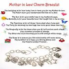 Mother In Law Charm  Lockhart Charm Bracelets, Silver includes 5x7 card