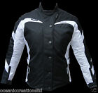 Ladies White Armoured All-Weather Motorbike Motorcycle Waterproof Cordura Jacket