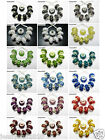 20Pcs Crystal Rhinestones Bling Spacer Beads Fit European Charm 9x14mm Pick