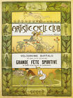 ART Cycle Bicycle Club Velodrome Buffalo Sport Vintage Poster Repro FREE S/H