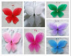 "6pc 4.3"" Nylon Butterfly Wedding Supplies Decorations Free Shipping U PICK"