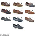 Mens New Leather Moccasin / Loafers Deck Shoes 6 - 12