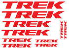 10 TREK LOGO STICKERS - 10 BICYCLE FRAME VINYL DECALS, 2 SHAPES, 18 COLOURS