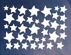 Sheet of 35 Medium Stars Kids Bedroom/Room Wall/Cupboard Art Stickers/Transfers