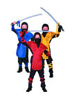 assassin kids costume - DRAGON NINJA MASTER CHILD BOY COSTUME JAPANESE ASSASSIN SHINOBI KIDS BLUE RED