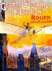 AIRPLANE Plane June 1910 Aviation Week Rouen Vintage Poster Repo FREE S/H