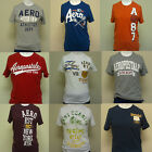 Aeropostale Mens Lot of 4 Distressed Graphic Tees AERO A87 Shirts Men NY T Shirt