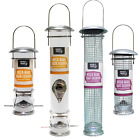 Deluxe 'Kingfisher' wild garden bird hanging SEED or NUT Feeder Large or small