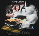 Camaro Chevy 396 T-Shirt Black Car Auto American Muscle Fire Burning Smoke  BABA