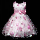 P3211 Pinks Summer Wedding Party Flowers Girls Pageant Dresses SIZE 3,4,5,6,7,8T