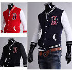 J96 New Stylish Slim Fit Mens Baseball Sports Jackets Coats 3 Colors 4 US Size
